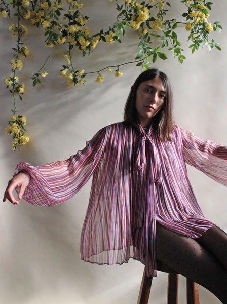 1970s Gucci Silk Blouse
