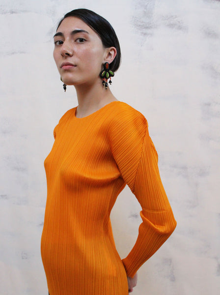 Pleats Please Tangerine Top