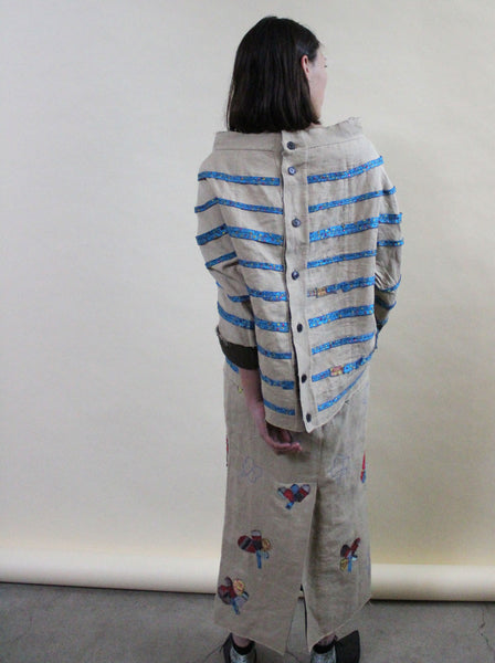 Marni Washed Linen Patchwork Set