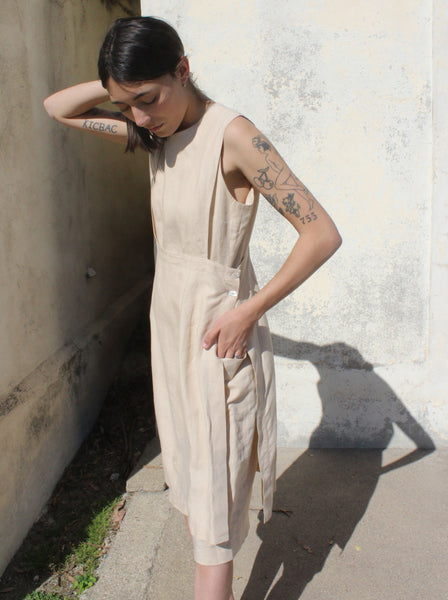Morgane Le Fay Layered Linen Dress