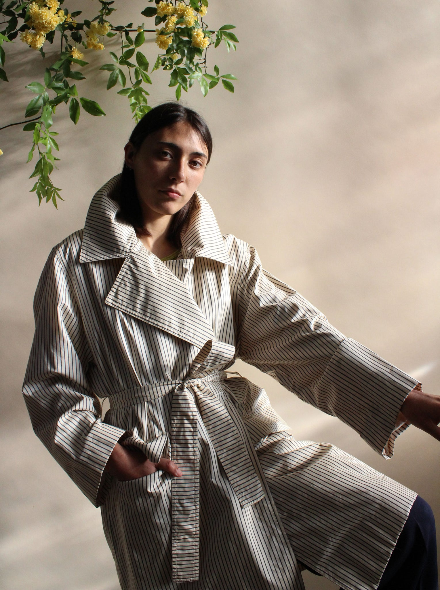 Carolyne Roehm Waxed Cotton Trench
