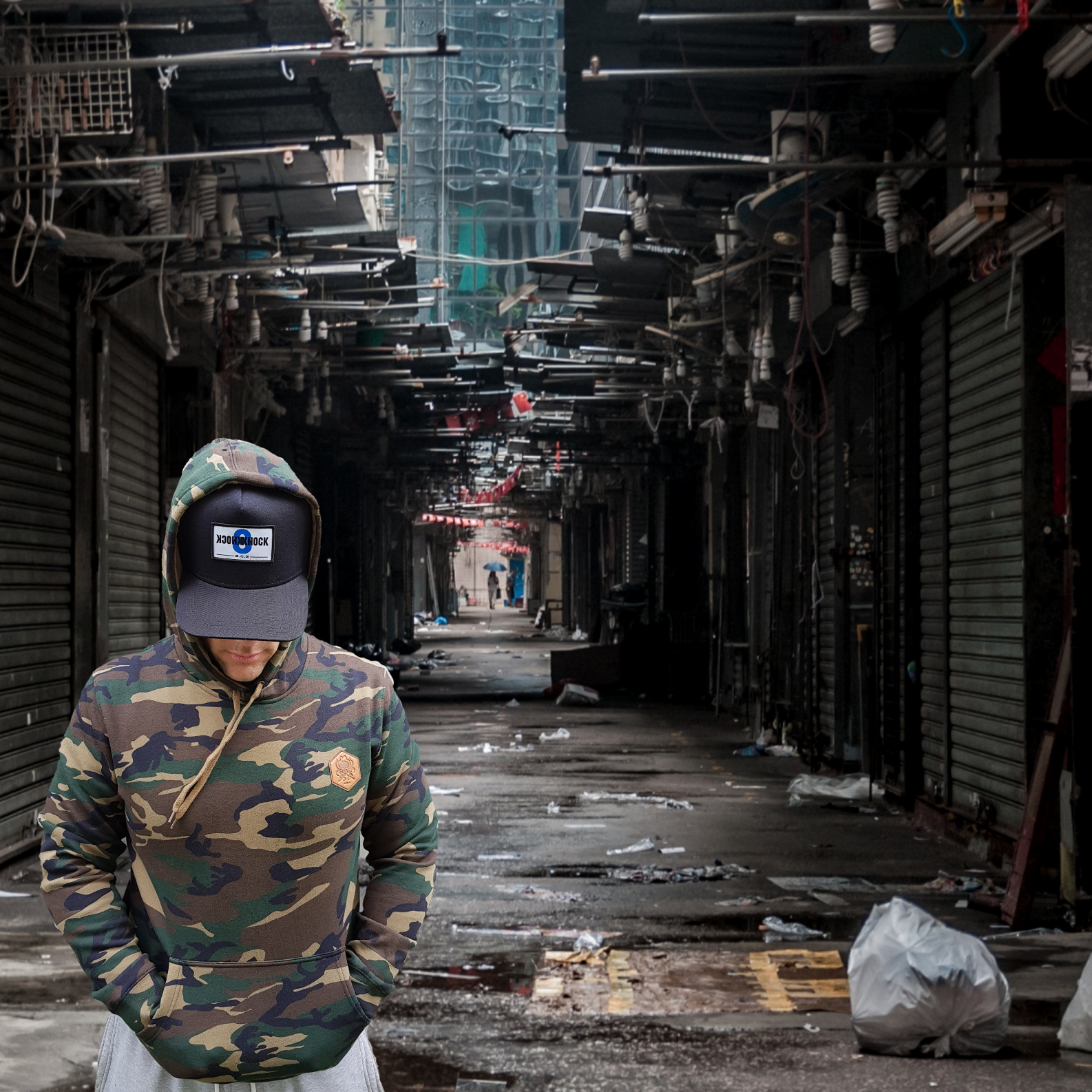 Camo Hoody - Wings Out Industries Police