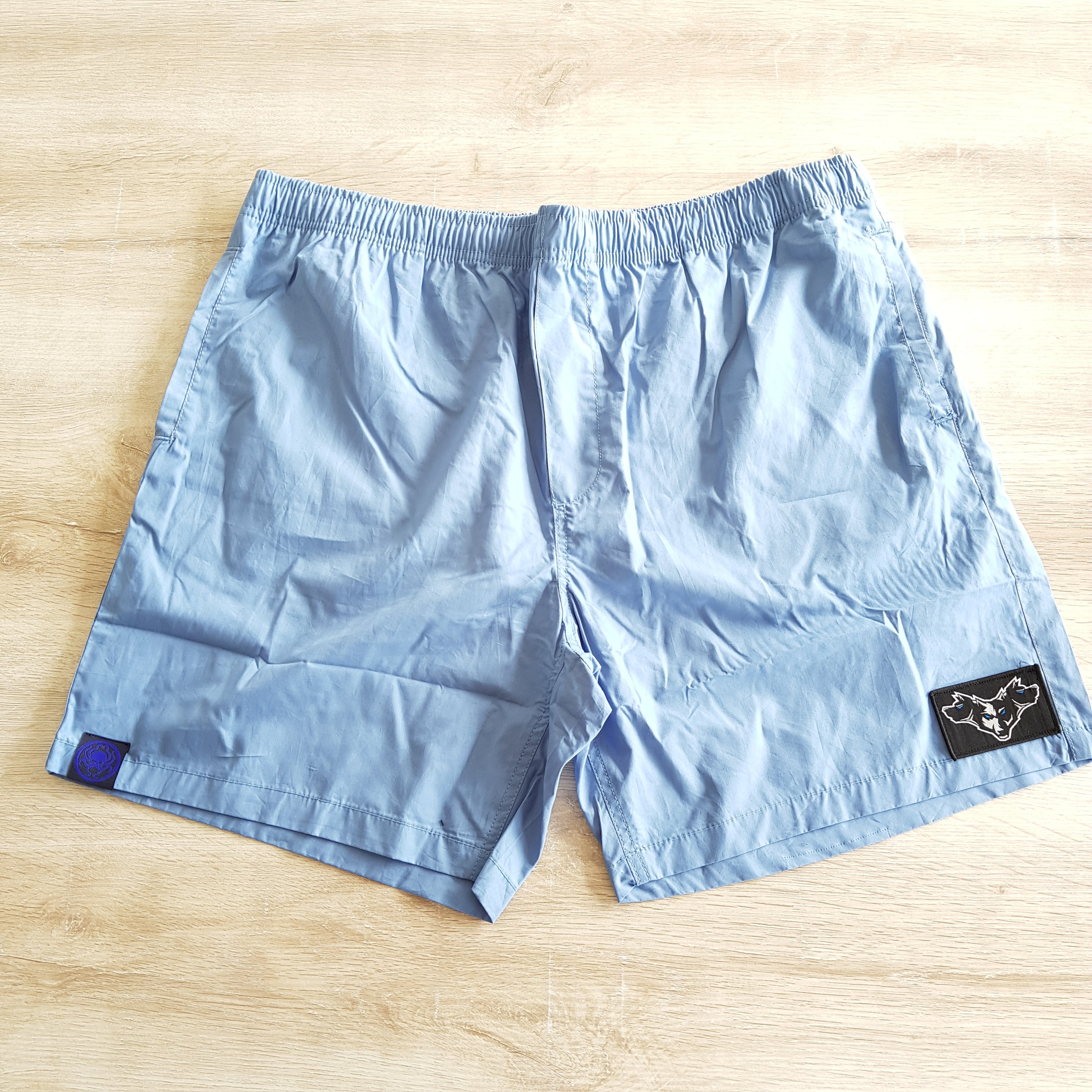 Beach Shorts Carolina Blue Cereberus - Wings Out Industries