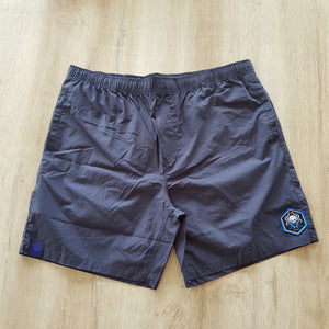 Beach Shorts Navy Crossed batons - Wings Out Industries Police