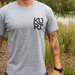 KURT - Grey Curved Hem. - Wings Out Industries Police