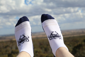 Blue Oct Ankle Socks - Wings Out Industries Police