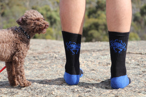 Blue Oct Worker Sock - Wings Out Industries