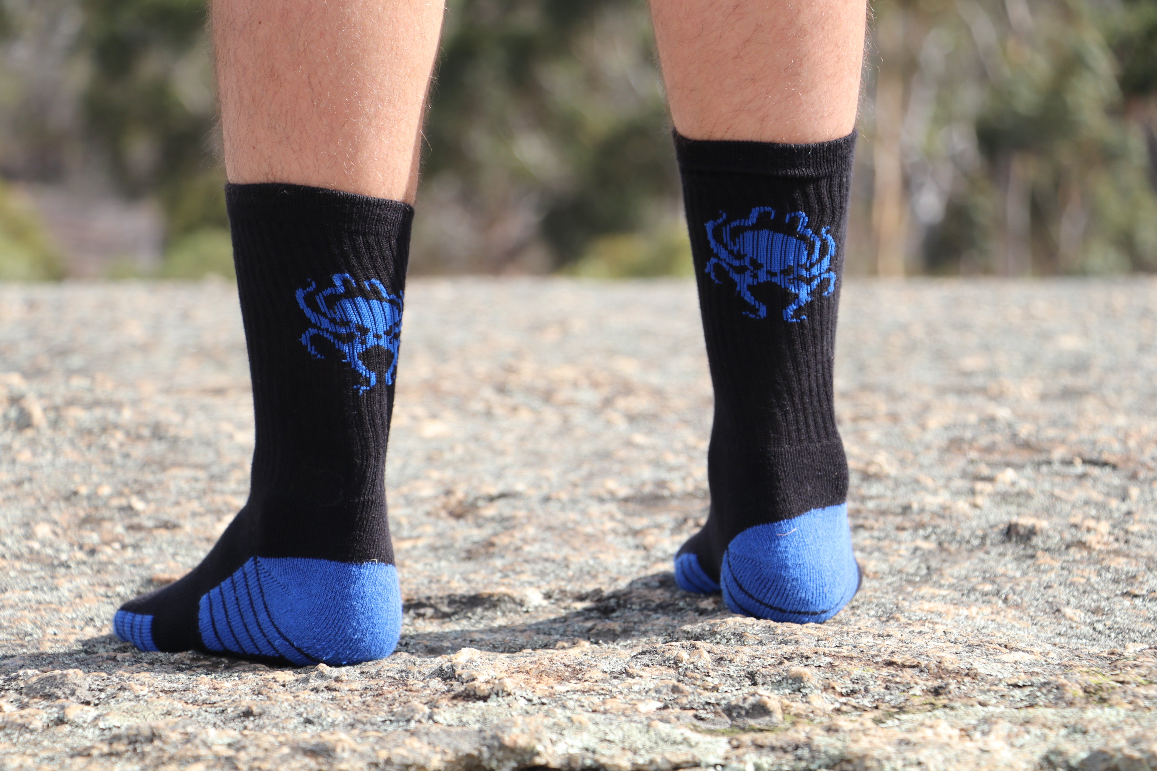 Blue Oct Worker Sock - Wings Out Industries Police