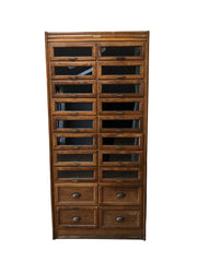 Vintage Haberdashery Drapers Chest Of Drawers Wall Cabinet