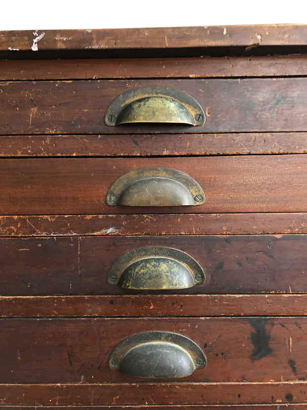 Vintage Industrial Watchmakers Workshop Chest Of Drawers