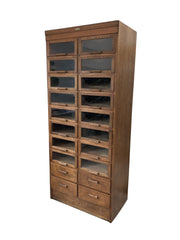Vintage Antique Haberdashery Chest Of Drawers Glass Display Cabinet