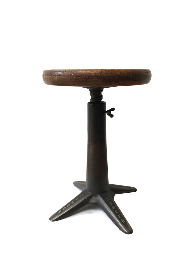 Original Cast Iron Industrial Factory Singer Sewing Stool