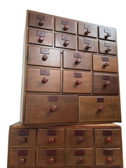 Antique Vintage Boots Chemists Apothecary Chest Of Drawers
