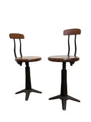 Original Vintage Industrial Singer Sewing Spring Back Factory Chairs