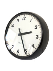 Small Black Gent of Leicester Wall Clock
