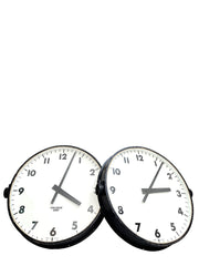Pair Vintage Antique Industrial Gents Of Leicester Railway Station Factory Wall Clock