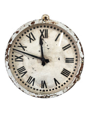 White Cast Iron Gents' of Leicester Factory Clock