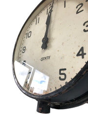 Vintage Gents of Leicester Factory Railway Station Wall Clock
