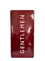 Antique Vintage British Railway Gentleman Platform Enamel Sign