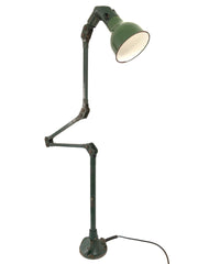 Vintage Industrial Mek Elek Machinist Floor Lamp Light