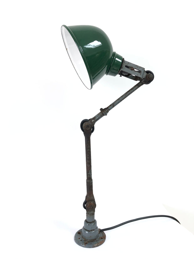 Vintage Industrial Dugdills Factory Table Wall Lamp Light
