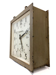 Antique Double Sided Gents Of Leicester Square Clock