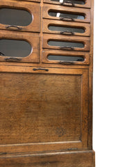Oak Haberdashery Drawers Shop Display Cabinet
