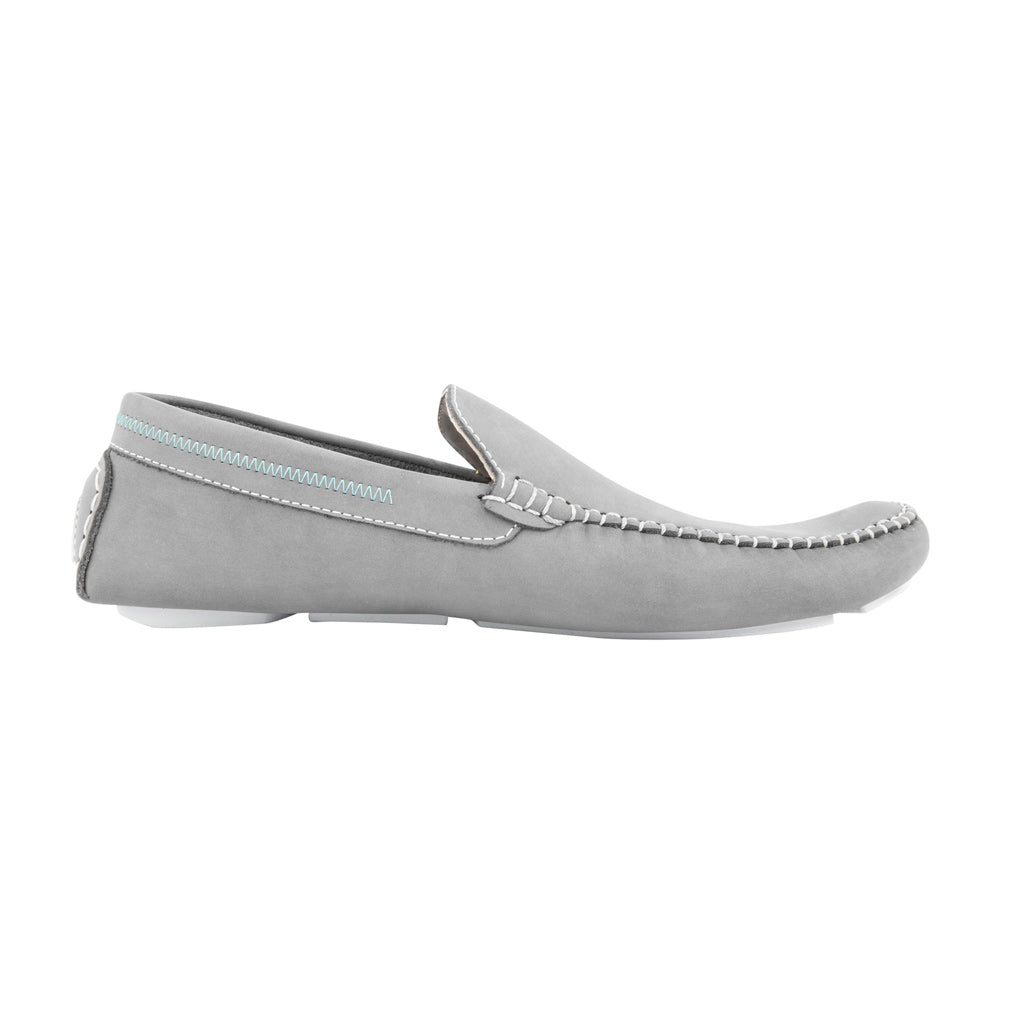 Grey with White Soles - Nubuck Leather for Adults
