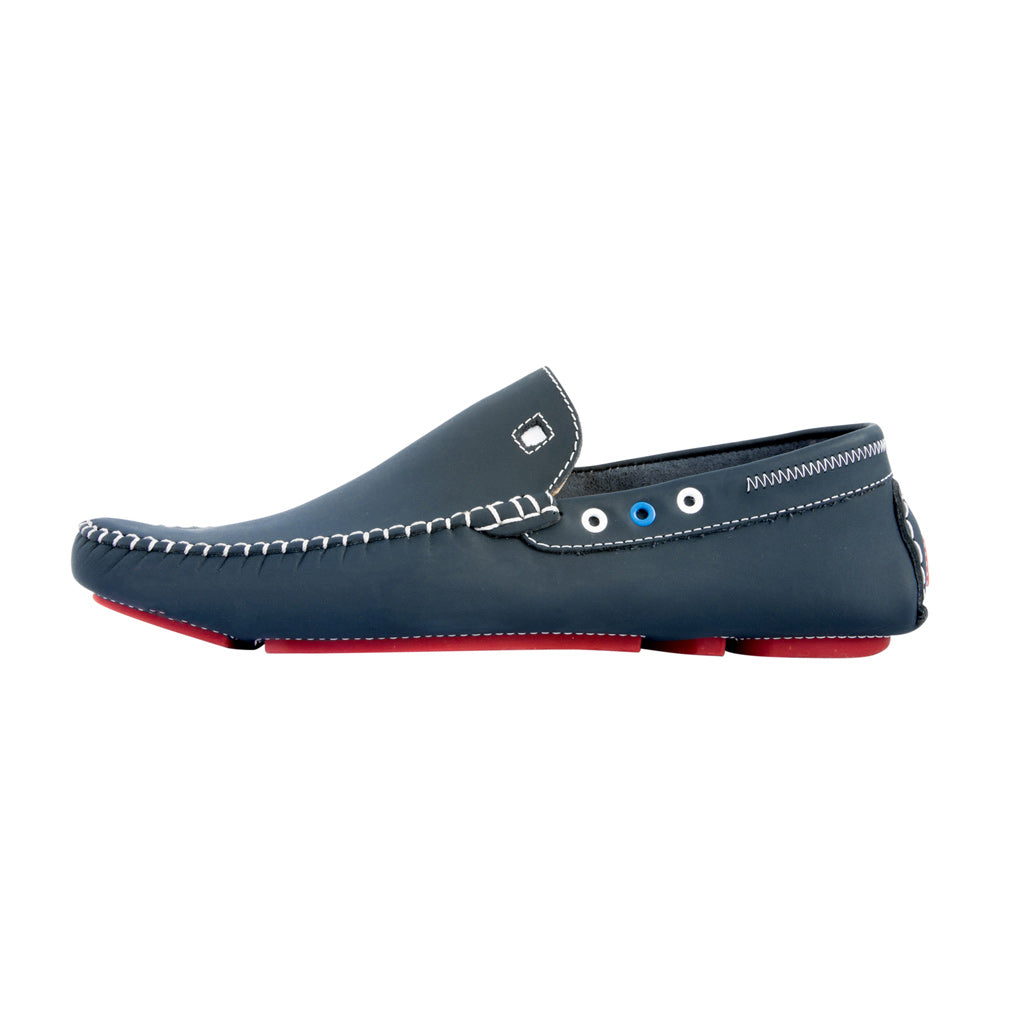 Blue with Red Soles - Gumi Leather for Adults