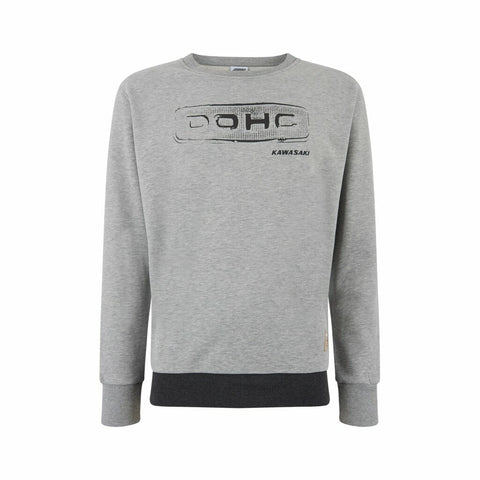 Genuine Kawasaki DOHC Sweatshirt - Grey