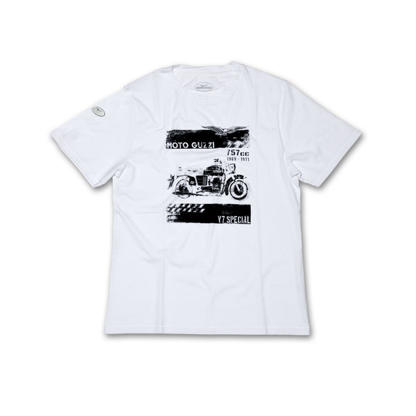 Moto Guzzi One Shot Mens T Shirt