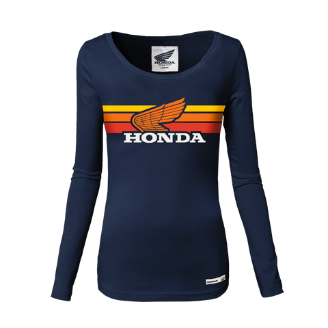 Honda Vintage Ladies Sunset Long Sleeve Tee