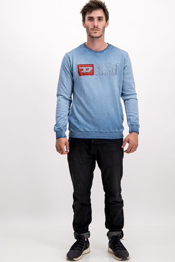 "Diesel Men's ""Only The Brave"" Sweater In Blue"