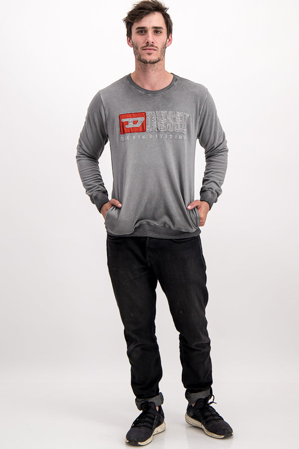"Diesel Men's ""Only The Brave"" Sweater In Grey"