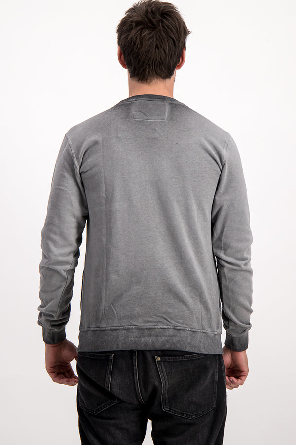 "Diesel Men's ""Only The Brave"" Sweater In Grey - Labels4Less"