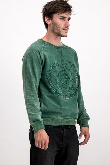 "Diesel Men's ""Only The Brave"" Sweater In Green"