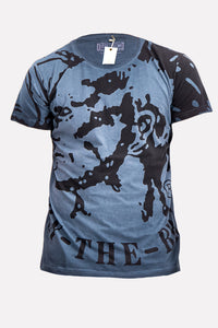 "Diesel Men's ""Only the Brave"" T-shirt In Blue"