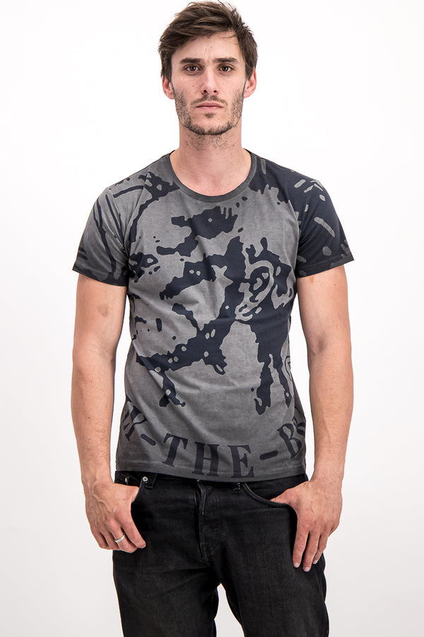 "Diesel Men's ""Only the Brave"" T-shirt In Grey - Labels4Less"