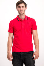 Lacoste Men's Golfer Slim Fit In Light Red & Black
