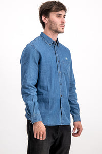 Lacoste Men's Regular Fit Denim Shirt In Blue - Labels4Less