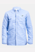 Lacoste Live Men's Formal Shirt Regular Fit In Blue