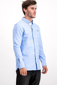 Lacoste Live Men's Formal Shirt Regular Fit In Blue - Labels4Less