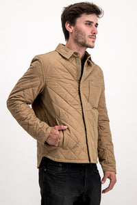 Lacoste SPORT Men's Puffer Jacket In Tan - Labels4Less