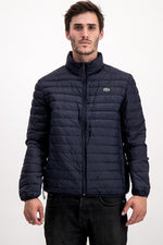 Lacoste Men's Puffer Jacket In Navy Blue