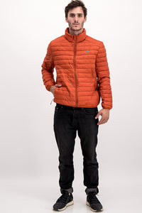Lacoste Men's Puffer Jacket In Orange
