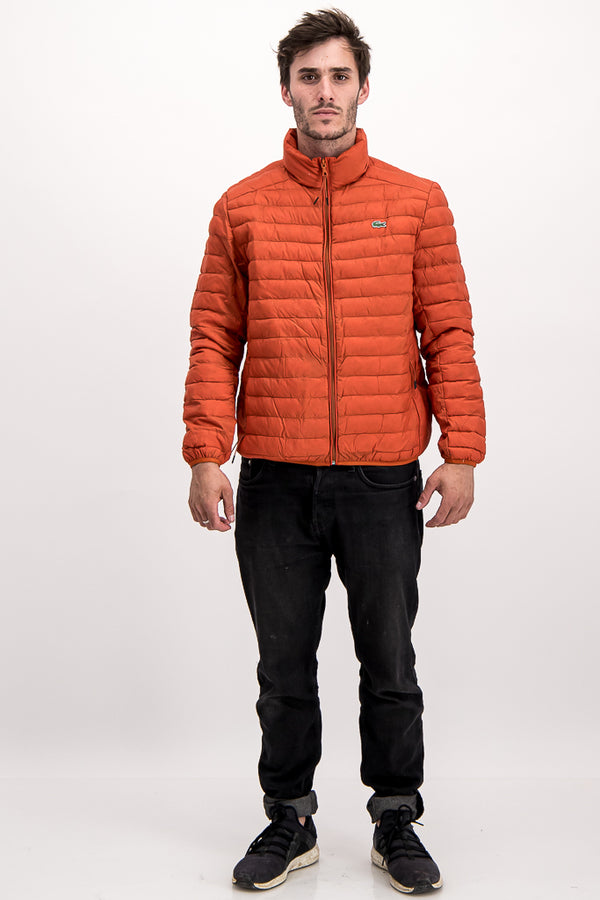 Lacoste Men's Puffer Jacket In Orange - Labels4Less