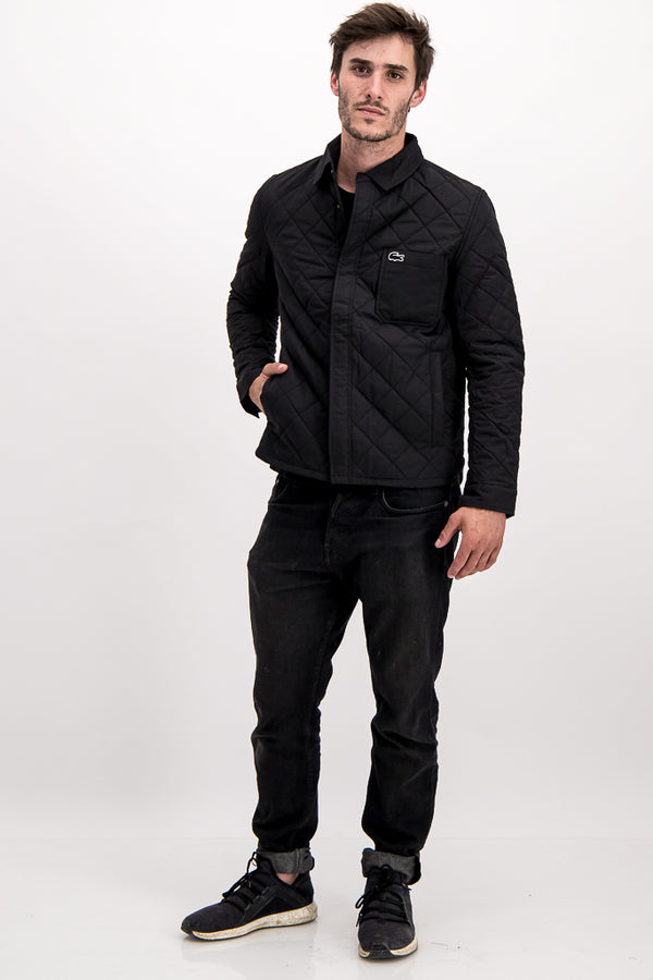 Lacoste SPORT Men's Puffer Jacket In Black - Labels4Less