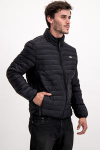 Lacoste Men's Puffer Jacket In Black - Labels4Less