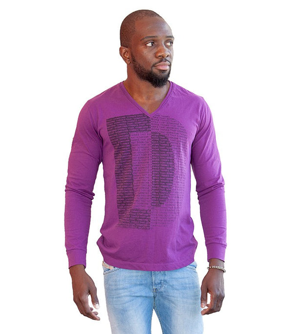 Diesel Men's D V-Neck In Purple - Labels4Less