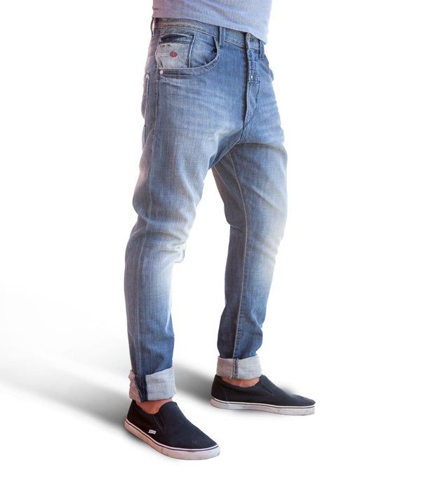 Energie Baggy Morris Jeans In Light Blue - Labels4Less